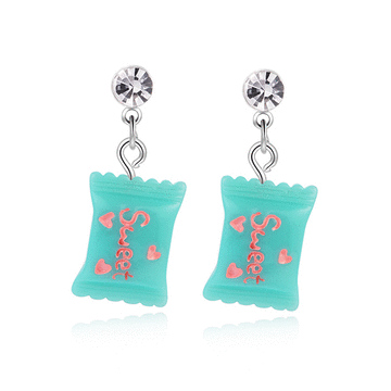 粉嫩可愛小糖果 黏式耳環
