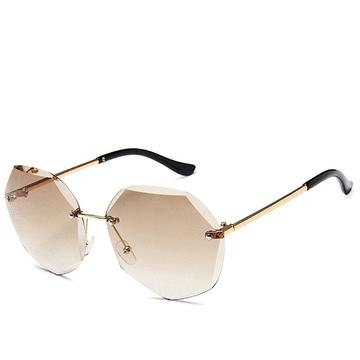 多邊形漸層色無框太陽眼鏡