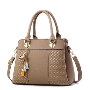 定型刺繡流蘇側背手提包