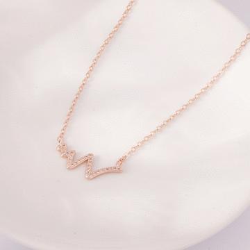 時尚率性閃電造型合金鑲鑽項鍊