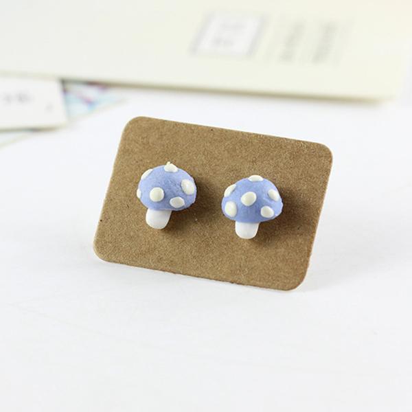 STK274BL-N 藍色蘑菇-耳針款