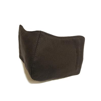 MIT台灣製-棕色細條紋透氣布口罩 (成人適用)