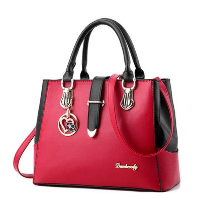 韓版時尚甜美定型側背手提包