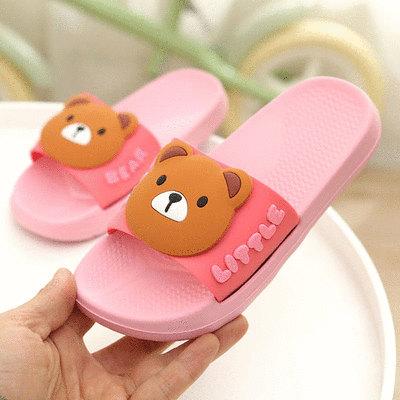 可愛卡通小熊居家涼拖鞋