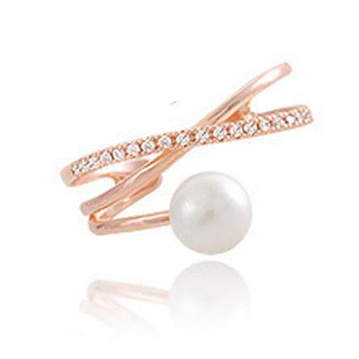 氣質珍珠開口戒指