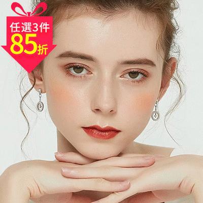 【專區3件★85折】觸及真心相似款-韓版圓環簍空吊鑽 黏式耳環