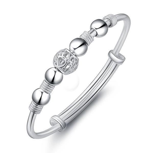 BRC028 銀白合金轉運珠手鍊