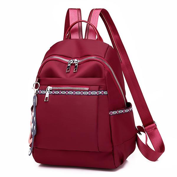 BPK137 純色大容量貓咪吊飾牛津後背包