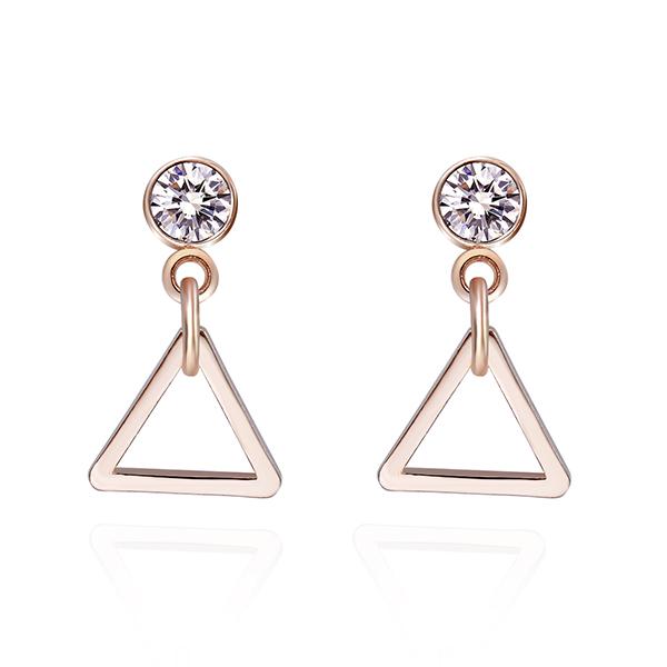 STK111 極簡幾何精緻三角 耳針/黏式耳環