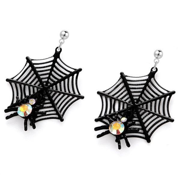 STK614 【16款】萬聖節限定-搞怪蜘蛛幽靈骷髏 針式/無耳洞黏貼式耳環