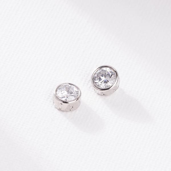 STK164 個性韓流圓形鑲鑽 無耳洞黏貼式耳環