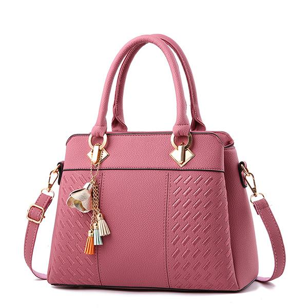 LDB650 定型刺繡流蘇側背手提包