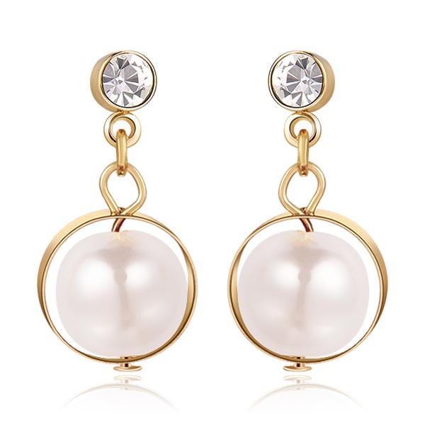 STK477 日韓簡約優雅珍珠 無耳洞黏貼式耳環