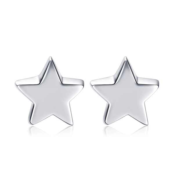 STK162 簡約小巧五角星黏式耳環