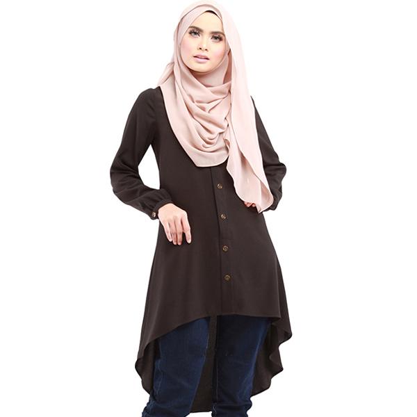 SDR011 純色簡約寬鬆長版襯衫裙
