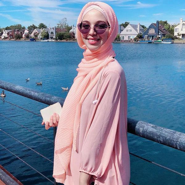 SHJ024 穆斯林斜紋皺褶玻璃紗長頭巾