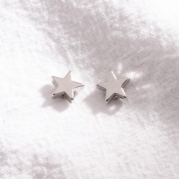 STK162 簡約小巧五角星 無耳洞黏貼式耳環