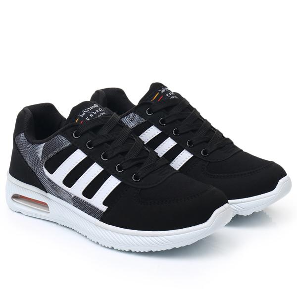SHE053 MIT台灣製-休閒潮流印花氣墊運動鞋
