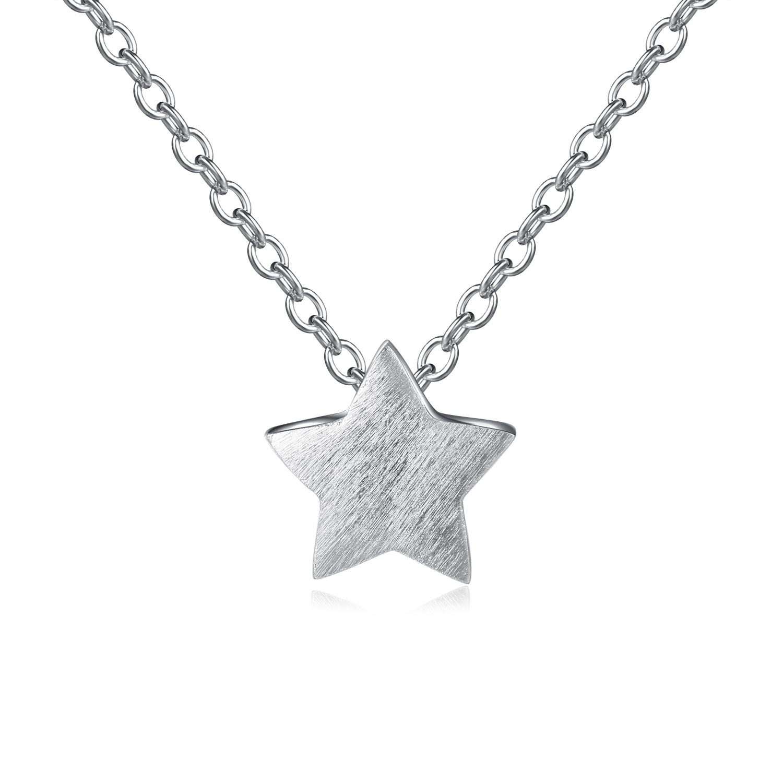 NKC020 清新簡約璀璨星星S925純銀項鍊