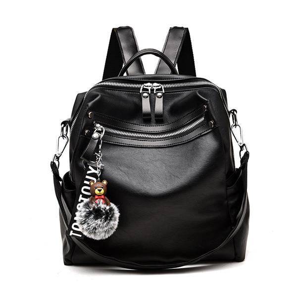 BPK103 簡約時尚純色大容量後背包