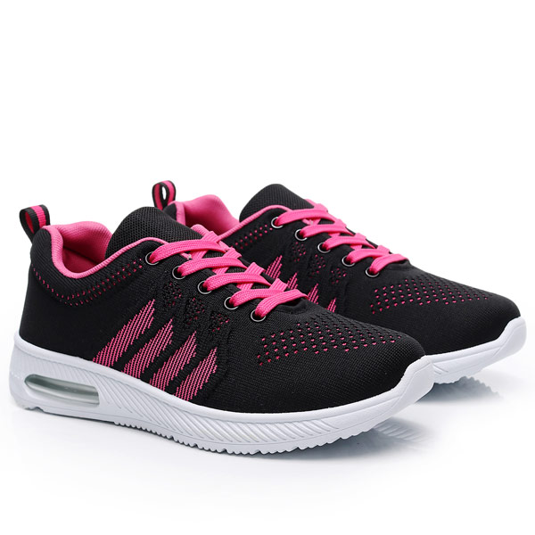 SHE066 MIT台灣製-動感飛織網布氣墊運動鞋