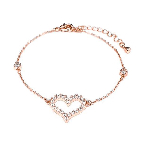 BRC042 戀愛心型微鑲鑽手鍊